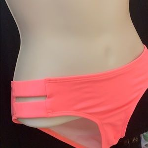 5/$12 Coral Bikini Bottoms WORN ONCE full back S